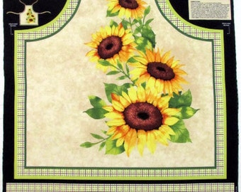 Autumn/ fall/ Thanksgiving Fabric Sunshine Orchard Sunflower Apron Fabric From Wilmington