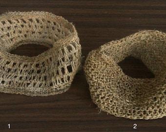 Hemp Headband Handmade Crochet 100% Pure Raw Natural Fibers Children Or Adult