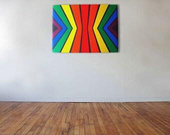 Rainbow Disco Party - Acrylic on canvas - 80cm x 60cm