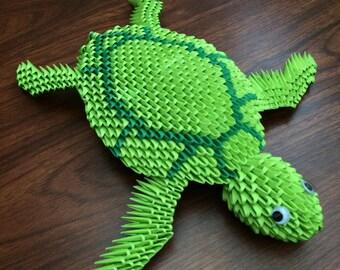 3D Origami Turtle