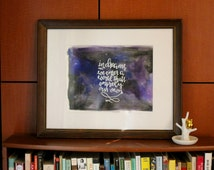In Dreams/Original Watercolor Quote Art