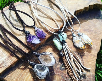 Assorted crystal necklaces