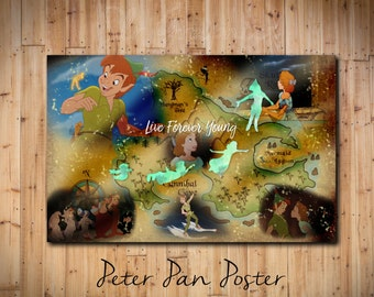 Peter Pan Vintage Scenery Poster Printable Download