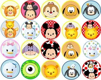 Tsum Tsum Edible Images Cupcake, Cookie Toppers