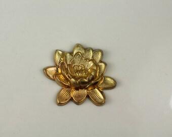 Brass Flower Stamping Finding Jewelry Scrapbook
