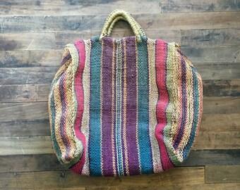 Vintage Jute tote Bag