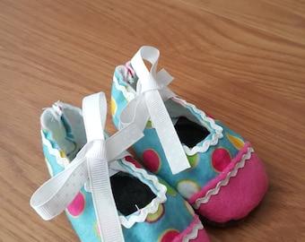 Baby Shoes - Multi color polka dot