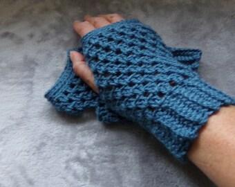 Crochet Fingerless Texting Gloves