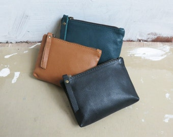 NAYA Leather Zip Purse (in 3 colours)