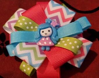 Blue Doll Bow