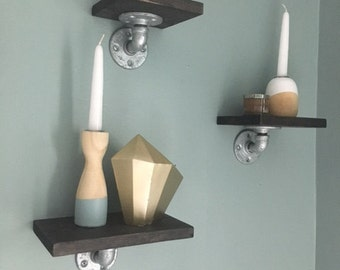 Floating Industrial Wall Shelves
