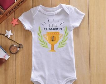 Little champion baby bodysuit, baby boy onesie, baby boy bodysuit, baby boy clothes, baby boy gift, baby boy outfit, newborn bodysuit