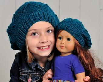 Star Beret KNITTING PATTERN for Girls and Dolls