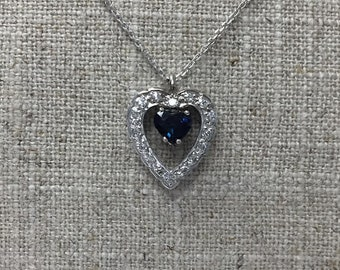 Heart Sapphire Pendant