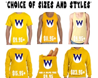 Choice of 1 Wario Cosplay Item * Sizes 2T - 6XL * Shirt * Tank * Hoodie * Long Sleeve * Tote Bag *  Super Mario Brothers * Smash Bros * Kart