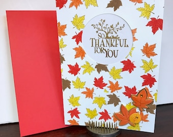 So Thankful for You Fall/Autumn/Thanksgiving card