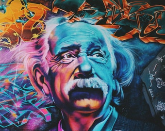Einstein Graffiti Photo Print A2