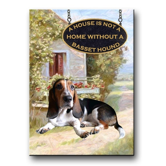 Basset Hound a House is Not a Home Fridge Magnet No 2