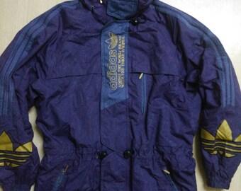 Vtg Adidas Hooded Bomber Jacket
