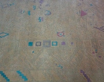 Omnipresent - Retro handwoven rug with an all over pattern