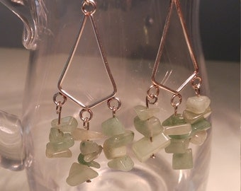 Jade Stone Dangle Earrings