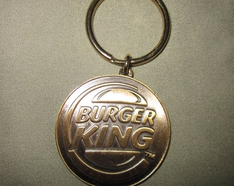 Vintage Burger Metal Burger King Key Chain