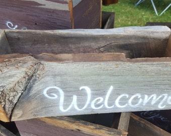 Welcome BarnBoard Crate Reclaimed Barn Board Box