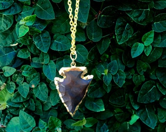Brown Arrowhead Necklace
