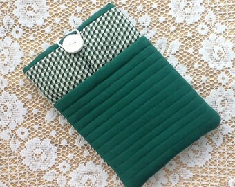 Green Quilted Kindle Fire / IPad Mini Sleeve