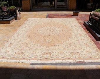 Persian Rug ( Tabriz ) Handcrafted  294 cm x 405 cm