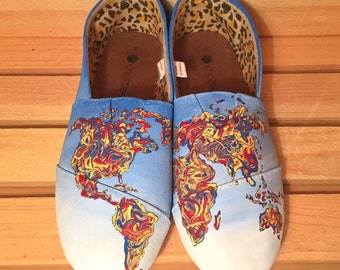 Painted Shoes, Custom Shoes, Customize Shoes, Back to School, Shoes, Custom Sneakers, Art Shoes, Unique Shoes, Canvas Shoes, Custom Vans