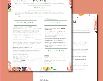 Modern Resume & Cover Letter Template_Watercolor