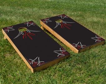 Pin Stripes Cornhole Board Set