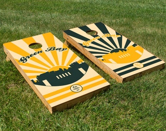 Green Bay Packers Cornhole Board Set