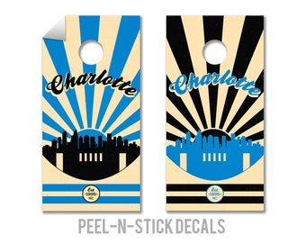Carolina Panthers Cornhole Board Decals