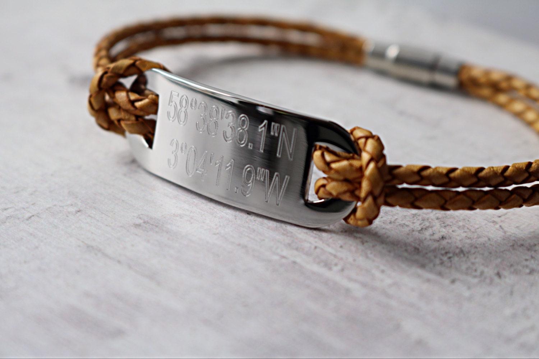 custom coordinates bracelet coordinates by edwardjonesgifts