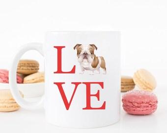 Love English Bulldog Mug - English Bulldog