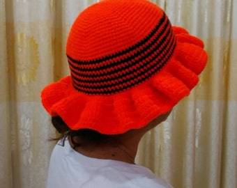 Colorful handmade crochet hat