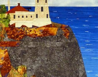 Split Rock (B), MN Lighthouse quilt pattern - ON SALE