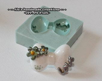 Silicone rubber mould (handmade) ' Bow '