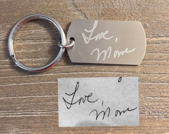 Handwritten Keychain | Mom's Handwriting | Handwriting Keychain | Personalized Keychain | Custom Gift