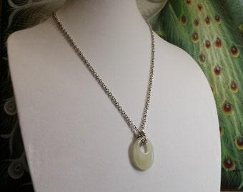Jade Bi Necklace #744