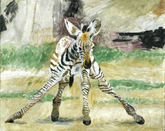Zebra's First Steps Print