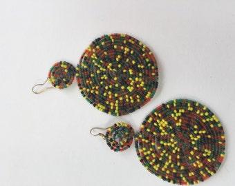 Kenyan handmade drop earrings