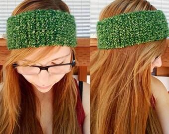 Crochet Headband Green Soft Earwarmer