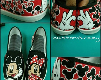 Custom Hand Painted Mickey Mouse Shoes