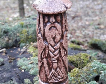 Small Handcrafted Statue of Odin the Allfather