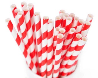 SALE!!! Red And Green Striped Paper Straws, Christmas Straws, Decorative Straws, Party Straws, Drinking Straws, Paper Straws, Mason Jar