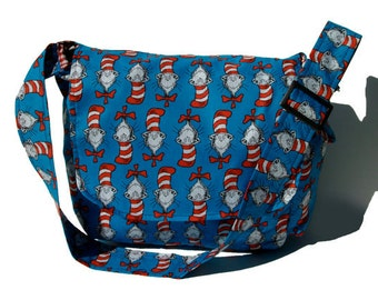 Dr. Seuss The Cat In The Hat Messenger/ Diaper Bag