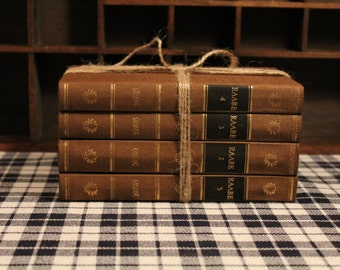 Set of 4 Vintage Hardback Books